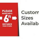 Social distancing signage is essential to reopen your business.