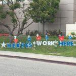 Heroes Work Here Signs